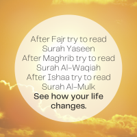 Benefits of Different Surahs