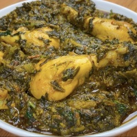 Spinach and Chicken Curry/Palak Chicken